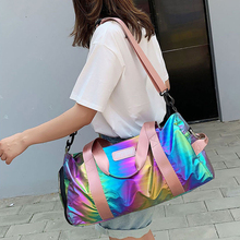 Women Colorful Nylon Travel Bags Gym Bag Ladies Carry On Luggage Hangbag Lightweight Casual Tote Travelling Duffe