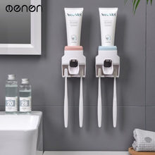 MENEN Automatic Toothpaste Squeezer with Toothbrush Holder Home Bathroom Product Accessories Punch-Free Wall Hang LF71049