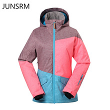 Women Ski Wear Single Board Double Suit Splicing Cotton Jacket ski jacket women suit snow