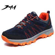 купить Sneakers Hiking Shoes Men Outdoor Fishing Trekking Shoes Sneakers Women Mountain Climbing Shoes Zapatillas Hombre Lace-Up дешево