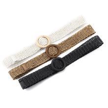 Women Braided Belts Waist Band Strap Dress Elastic Straw Shape Wide Belt For Woman Fashion Handwoven Waistband
