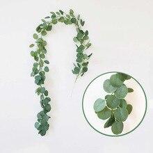 Eucalyptus rattan Artificial flower leaf  green plant Photography venue Home decoration garland leaves