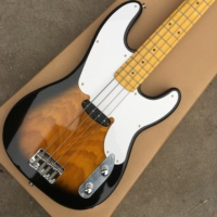 Electric guitar jazz bass 4 string color sunburst maple. Free shipping fingerboard