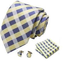 Мужской галстук s облегающий синий Снежный горошек 100% шелк
