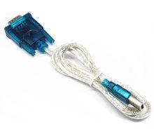1 peça HL-340 novo usb para rs232 com cabo série pda 9 pinos db9 adaptador de cabo suporte Windows7-64