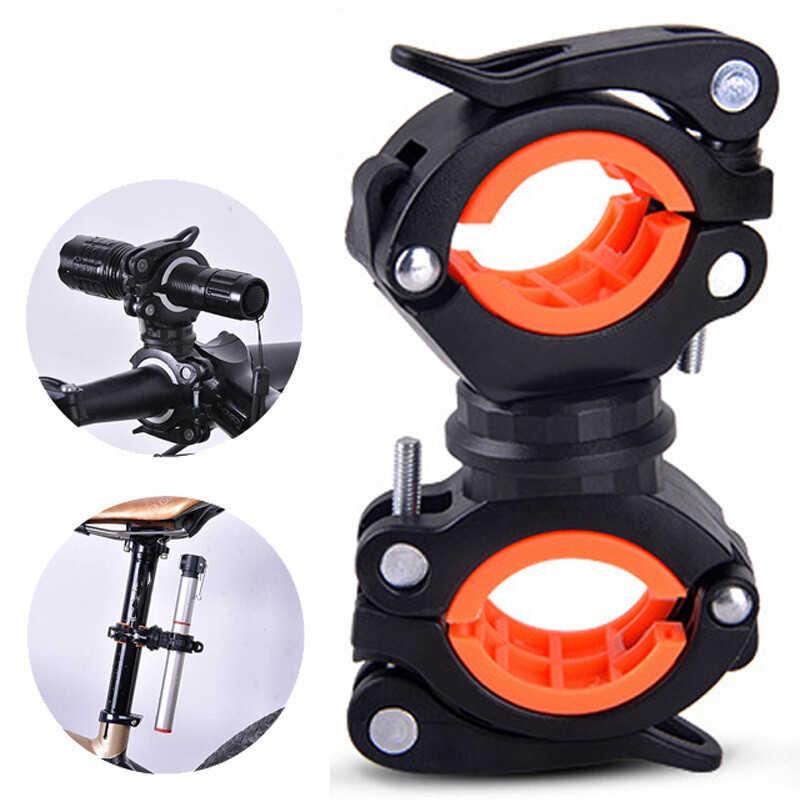 360 Swivel  Cycle Bike Front Torch Mount LED Head Light Flashlight Holder ZN