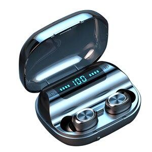 Image 1 - F10 TWS Bluetooth 5.0 kablosuz kulaklık dokunmatik kontrol kulakiçi IPX7 su geçirmez 9D Stereo müzik kulaklık 1200mAh güç bankası
