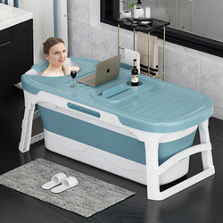 Adult Folding Bathtub Household Bathtub Plastic Bathtub Non-Slip Insulated Household Oversize Thickened Bath Tub Fold Up Bathtub