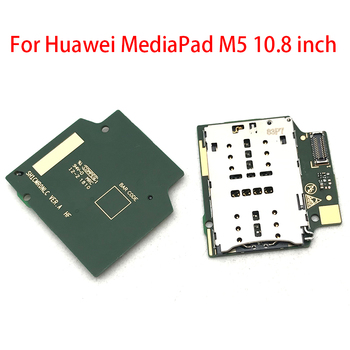 5pcs/lot New SIM Card Reader Holder Connector Slot Flex Cable Replacement For Huawei MediaPad M5 10.8 inch