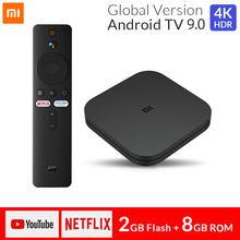 Orijinal Xiaomi Mi TV kutusu S 4K Ultra HD Android TV 9.0 2GB RAM 8GB ROM HDMI 2.0 2.4G/5.8G WiFi BT4.2 Set üstü TV kutusu medya oynatıcı