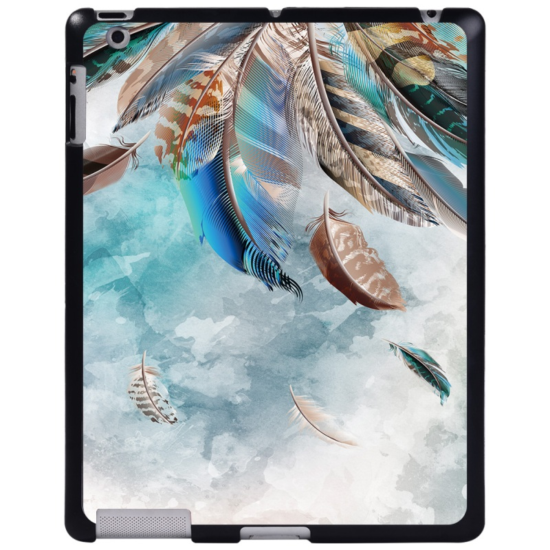 aqua blue feather Emerald For Apple iPad 8 10 2 2020 8th 8 Generation A2428 A2429 tablet PC Plastic Printed
