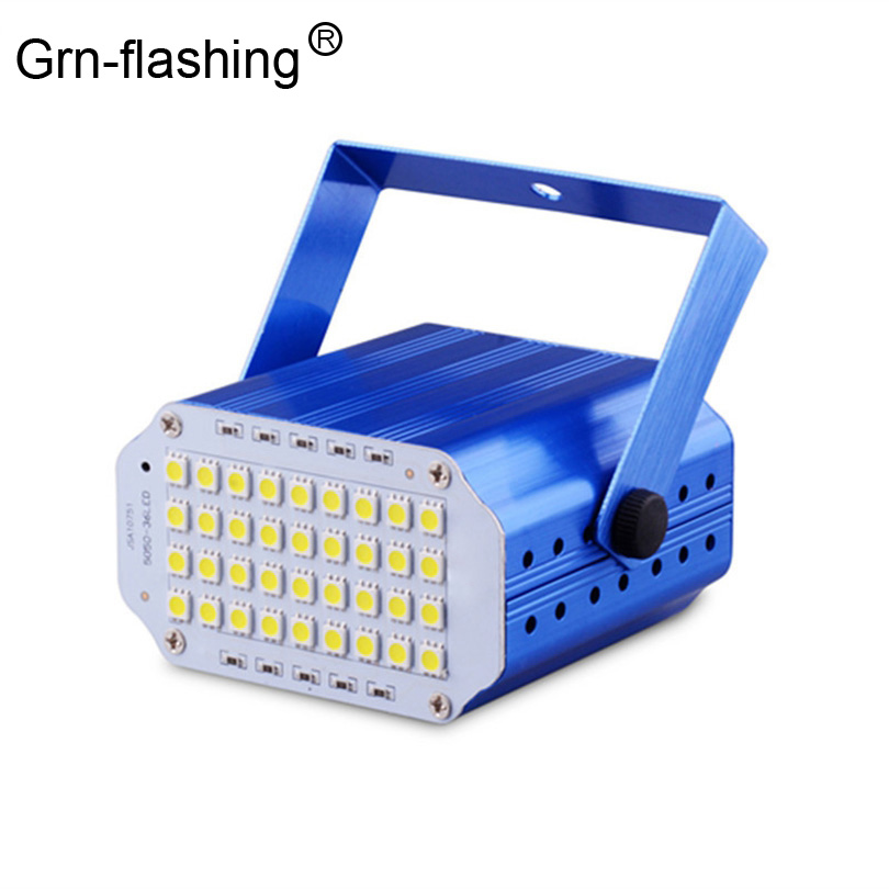 High Qualtiy 36leds SMD 5050 Led Strobe Light Rotating Voice Activated LED Stage Lights Party Festa Disco Stroboscope Bulb