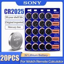 20 pces sony cr2025 cr 2025 dl2025 br2025 kcr2025 3v bateria de lítio para relógio brinquedo controle remoto botão medidor baterias pilha moeda