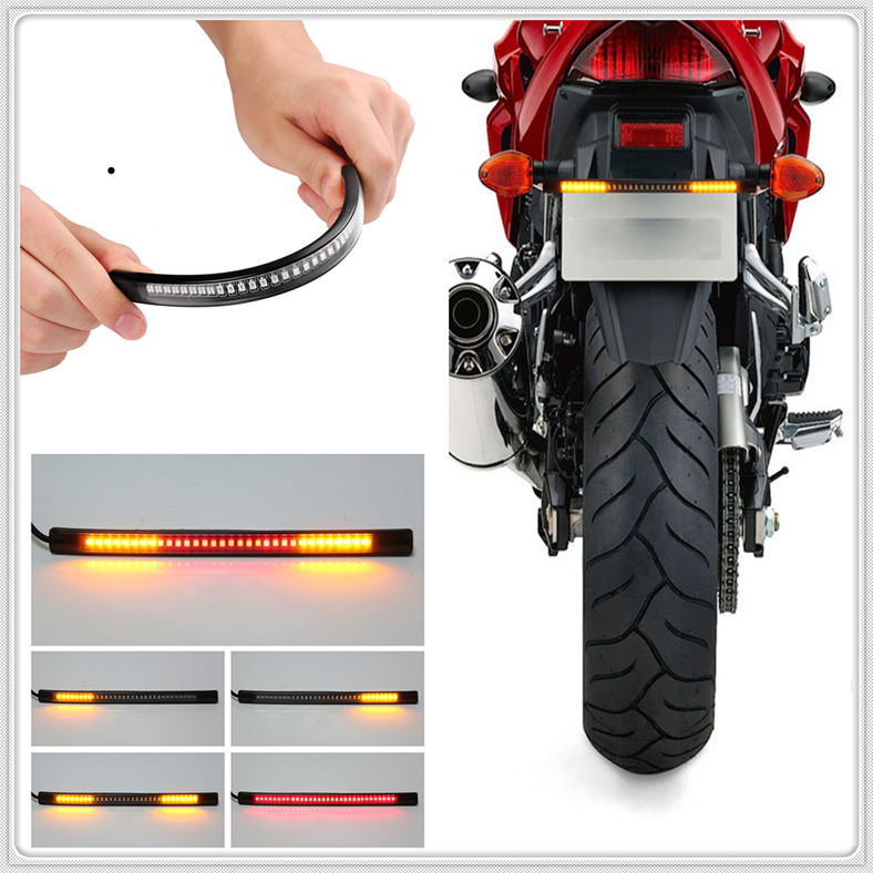 Motorcycle LED Tail Lamp Plate Light Brake Stop Turn Signal Strip For SUZUKI SFV650 GLADIUS SV650 TL1000S 600 750 KATANA
