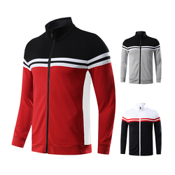 Men Cardigan Coat 2019 Running Novelty Shirts Patchwork Outwear Training Jerseys Football Fitness Jogging Jackets