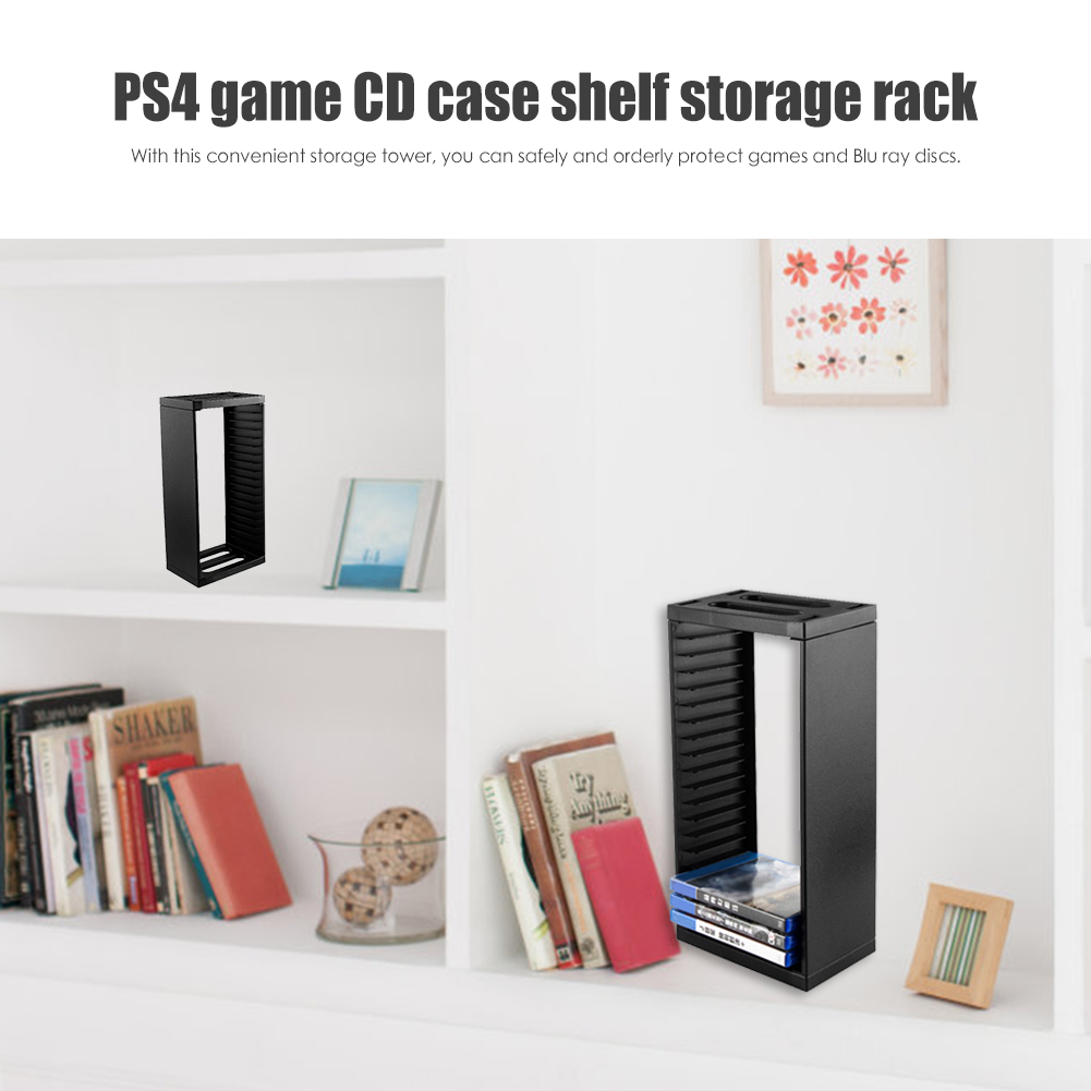 Game Card Box Holder Games Disc Title Storage Tower Case CD Stand Holder Bracket For PS4 Slim Pro Game Console Practical Host