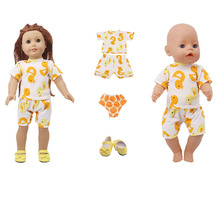 2019 New American doll accessories clothes + underwear + shoes for 18-inch dolls and 43cm rebirth dolls, generation, girl gifts 1 set 18 american girl doll clothes and accessories white shirt and flower trousers 18 inch american girl dolls clothes ingbaby