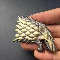 car sticker Rhino Tuning Game of Thrones House Stark Direwolf Family Totem Metal Car Badge Emblem Sticker Fit Silverado F-Series Escape (3)