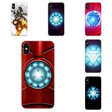 Avengers Movie Superhero Iron Man Arc Reactor Logo For Apple iPhone 4 4S 5 5C 5S SE 6 6S 7 8 11 Plus Pro X XS Max XR(China)