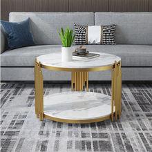 Роскошный круглый журнальный столик для гостиной центральный