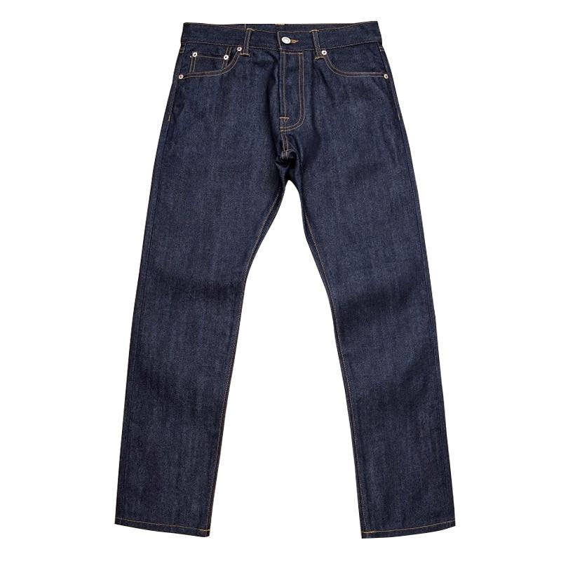 511XX-0007 Read Description! Top Quality Indigo Selvage Unwashed 13oz Pants Unsanforised Nature Dyeing Raw Denim Jean