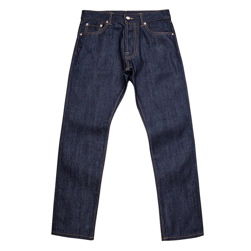 511XX-0007 Read Description! Top Quality Raw Indigo Selvage Unwashed 13oz Denim Pants Unsanforised Nature Dye Raw Denim Jean