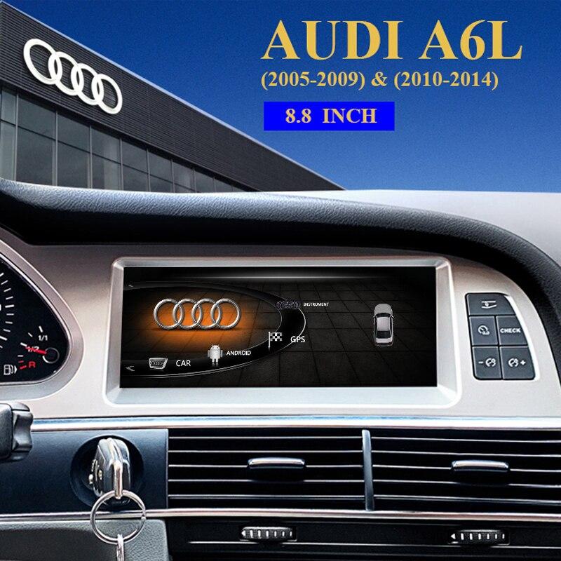 Автомобильный dvd плеер для Audi A6L (2005 2009) ( 2010 2014) Автомобильный Радио Мультимедиа Видео плеер навигация GPS Android 10,0 двойной Din|Мультимедиаплеер для авто|   | АлиЭкспресс