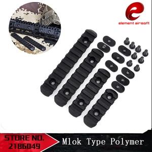 Element 4Pcs Rifle Polymer M-LOK 20mm Picatinny Weaver Rail Section Set for Hand Guard Hunting Polymer Rail Section Rail Section(China)