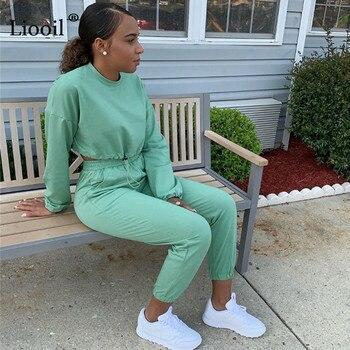(Conjunto e calça são vendidos separadamente) Treino Fato de esportes das mulheres Moletom e calça de moletom Jogging Femme 2 Pieces Set Sweatsuit 1