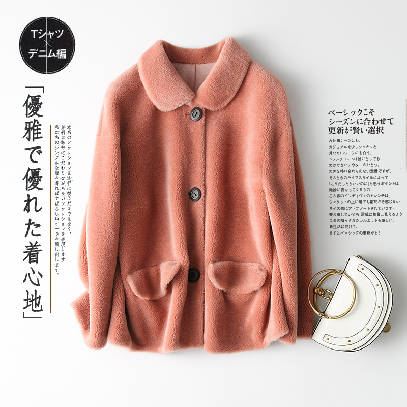 Shearling Sheep Real Fur Coat Autumn Winter Jacket Women Real Wool Coats And Jackets Women Clothes 2020 Abrigo Mujer MY S S