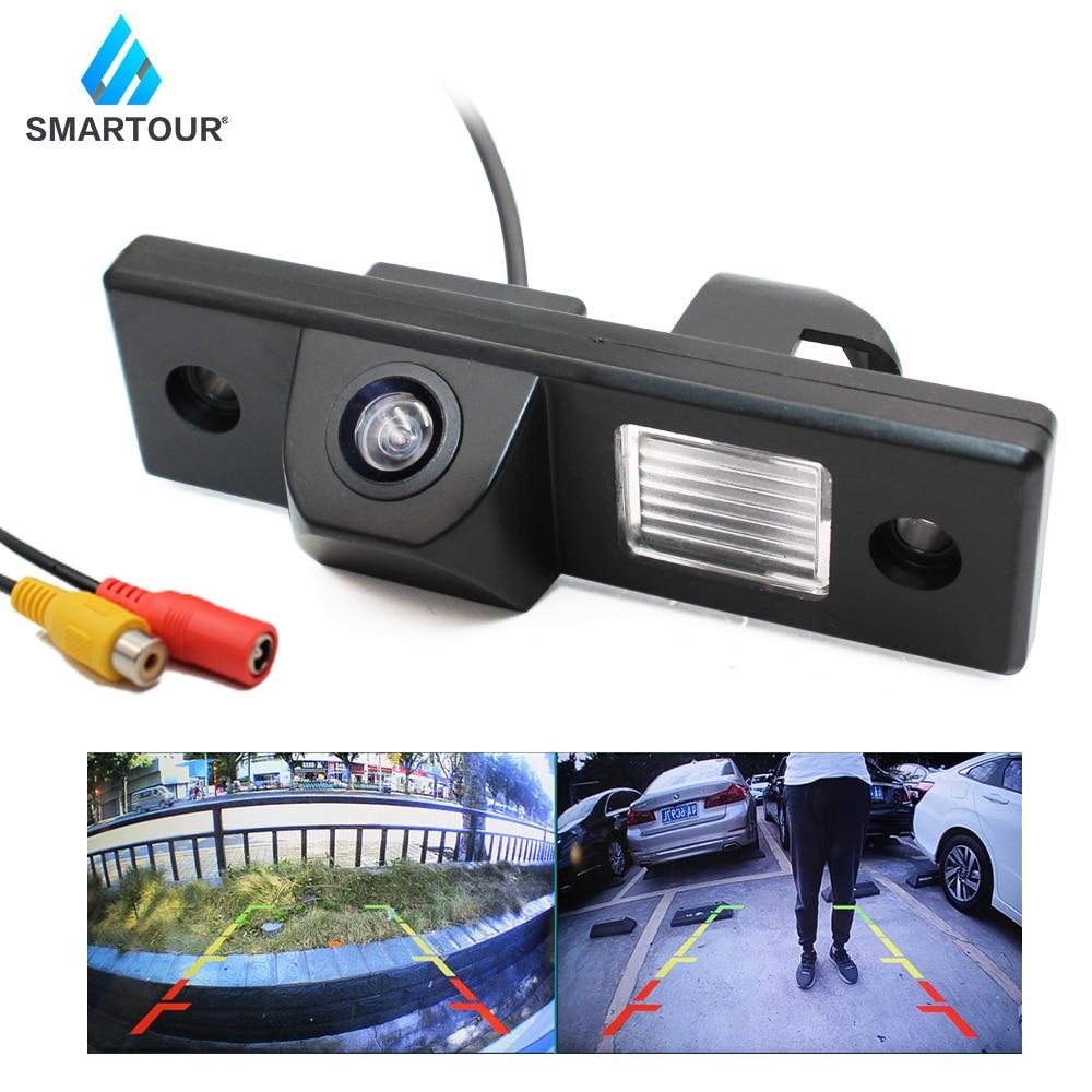 Smartour câmera reversa do carro hd visão noturna câmera de visão traseira backup estacionamento filmadora altamente à prova dwaterproof água invertendo monitor