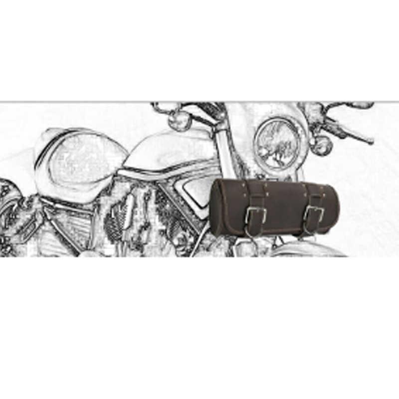Motorrad Sattel Taschen Leder Retro Motorrad Seite Vorne Hinten Werkzeug Lagerung Schwanz Tasche PU Gepäck taschen Pouchs für Harley Pflege rennen