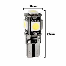 Set 5 SMD T10 Led luce interna Canbus strumento Car Gap Side Tail Wedge Parking indicatore di direzione bianco 12V 5W 12*30mm