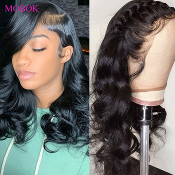Mobok Body Wave Lace Front Wigs 13x4 Lace Front Human Hair Wigs preplucked Remy Brazilian Body Wave Frontal Wig Lace Closure Wig wa wonderful body wave 13x4 lace front wig 360 lace wig remy human hair wigs natural color 8 28 30inch wh 13x4 lace body wave