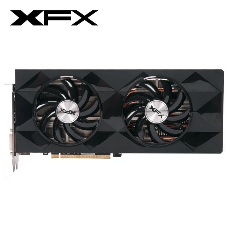 Original XFX R9 390 8GB Video Screen Cards AMD Radeon R9390 8GB Graphics Cards GPU Board Desktop Computer Game Map VGA Videocard|Graphics Cards| |  - title=