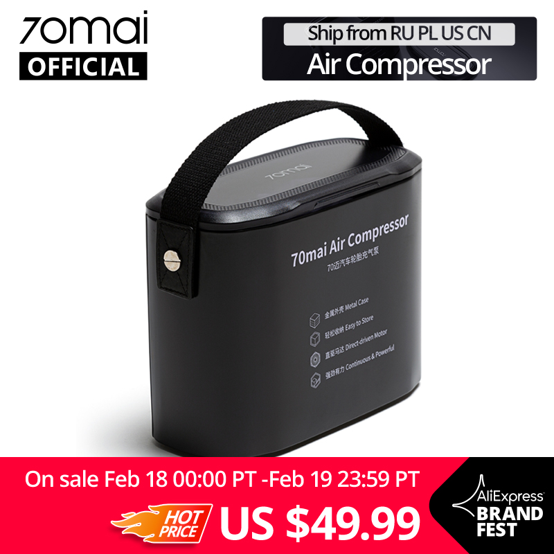 Original 70mai Air Compressor 12V 3.0L 70 MAI Protable Electric Car Air Pump Mini Compressor Tire Inflator Auto Tyre Pumb