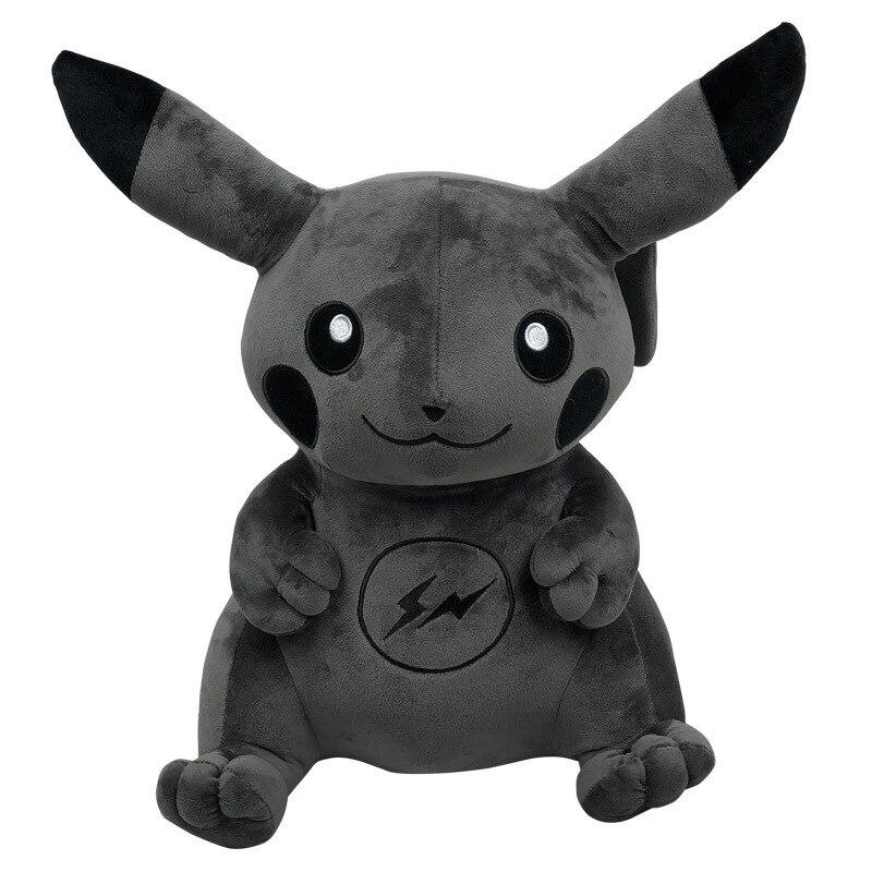 40cm-fragment-x-font-b-pokemon-b-font-pikachu-plush-stuffed-animal-dark-pikachu-plush-doll-toy