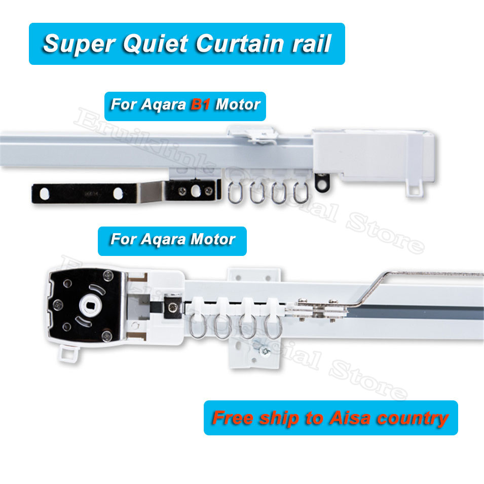 Customizable Super Silent Electric Curtain Track For Aqara Motor/Aqara B1 Motor, Curtain Rail For Zigbee Smart Home