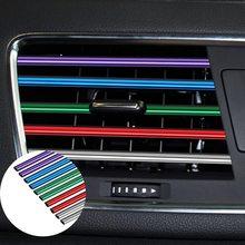 10 sztuk poszycie pcv dekoracja do wylotu powietrza wnętrze wentylacja powietrza kratka przełącznik wykończenia akcesoria do wnętrza samochodu Car styling