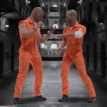 Spot 1/6 Action figure Prison uniform version head carving costume set for 12 inch Action figure accessories
