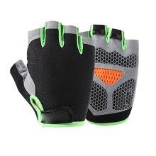 Весенние перчатки для занятий спортом на открытом воздухе, для езды на велосипеде, для мужчин и женщин, для фитнеса, Нескользящие, без пальцев, дышащие, защитные, солнцезащитные перчатки