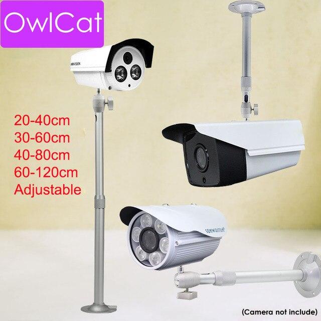 Soporte retráctil para cámara de vigilancia, montaje en pared de aleación de aluminio Universal de 20CM 120CM