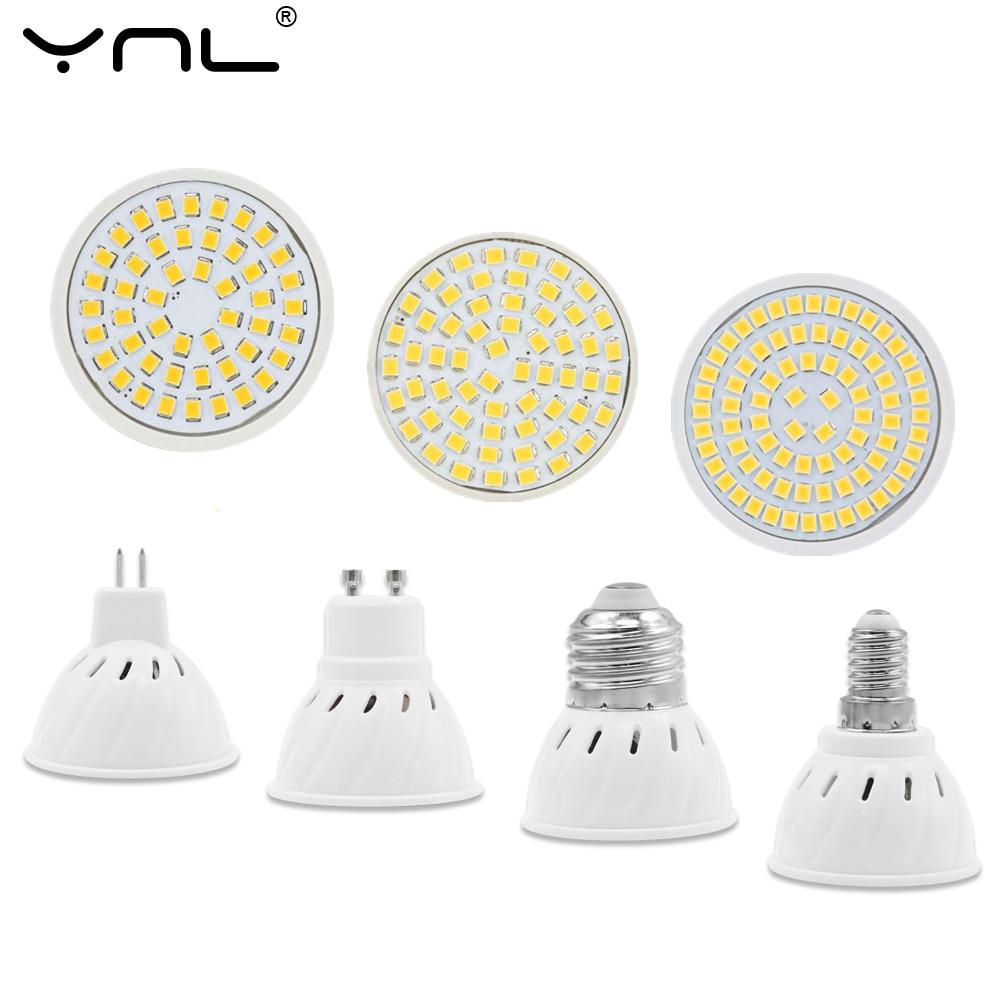 E27 GU10 LED Lamp 220V E14 MR16 Lampada LED Bulb Lamp Spotlight SMD2835 48/60/80Leds Cold Warm White Lamparas LED Bombillas