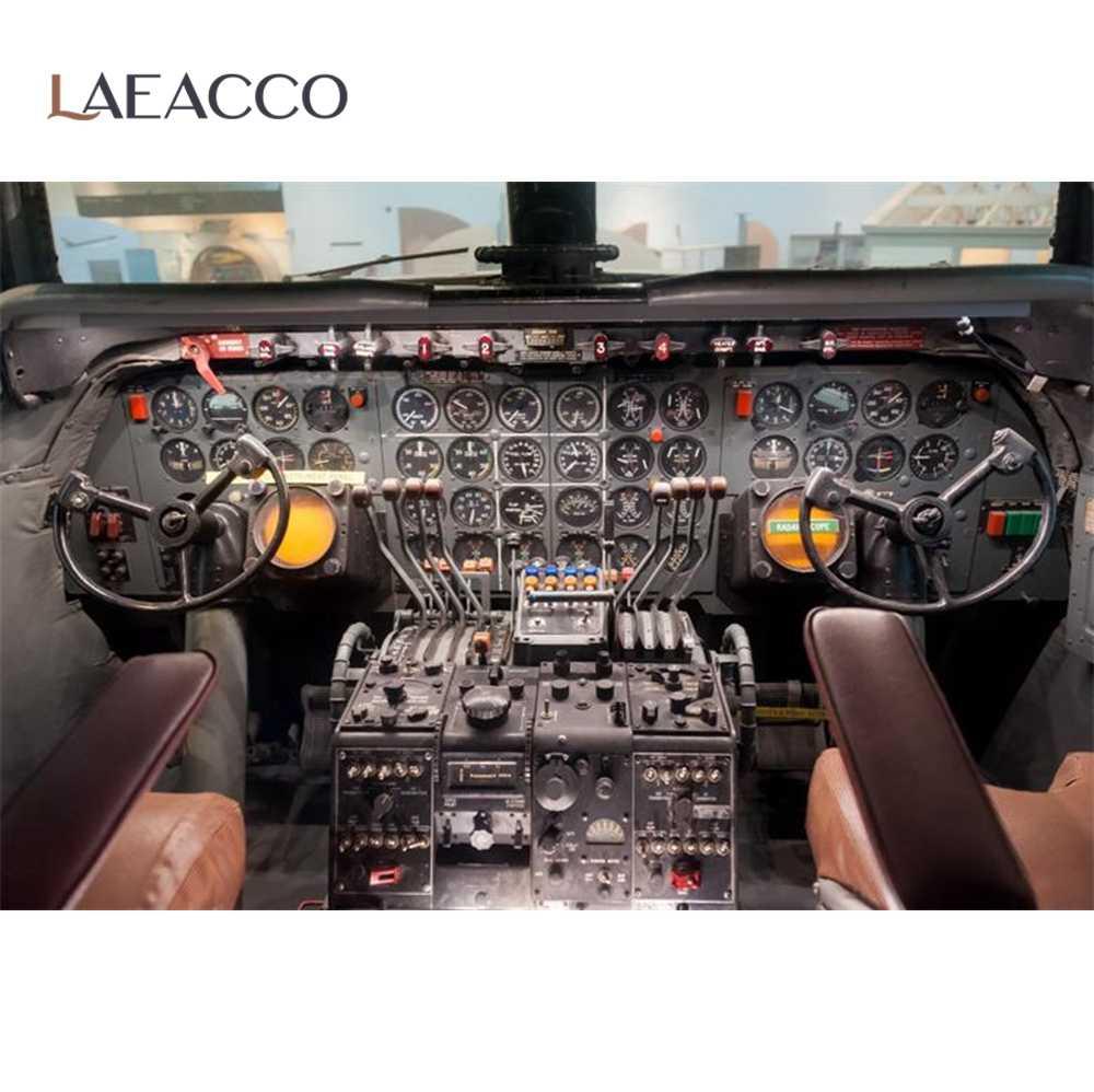 Laeacco Cockpit Avion Pilote Instruments Armoire Tableau De Bord Reve Interieur Arriere Plans Photo Toile De Fond Photo Studio Aliexpress