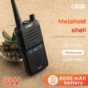 Image 1 - 2PCS Handheld Walkie Talkie 8W High Power UHF Handheld Two Way Ham Radio Communicator HF Transceiver Amateur Handy