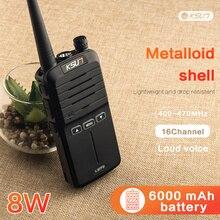 Walkie Talkie de mano, 8W, alta potencia, UHF, Radio de mano, comunicador bidireccional HF, transceptor, aficionado, práctico, 2 uds.