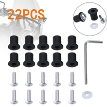 New Arrival 1 Set Motorcycle Cover Screws Kit M5 Washers Rubber Neoprene Nut for Modification