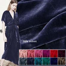 Ширина 114 см шелковая бархатная ткань Вельветовая для платья
