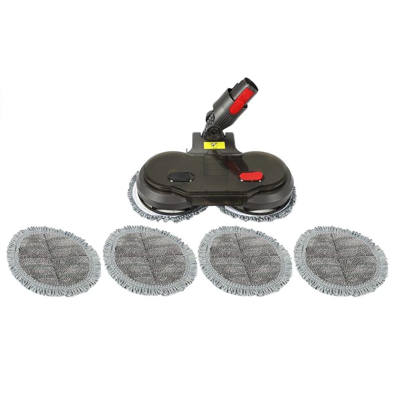 Электрическая Насадка для швабры + резервуар для воды + 6 насадок для швабры для пылесоса Dyson V7 V8 V10 V11 Эффективная очистка земли