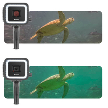 SHOOT for GoPro 40M 900LM Underwater Waterproof LED Video Diving Fill in Light Flashlight Red Filter Hero 7 6 5 Black